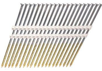 Gwoździe taśmowe łączone plastikiem 21°  4,2/160mm/gładkie/czarne
