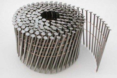 Gwoździe bębnowe na drucie 2,1 kąt 16° ryflowane galwanizowane długość 30mm