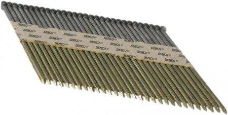 Gwoździe taśmowe łączone papierem 34°/ ø 3,1mm/gładkie/czarne