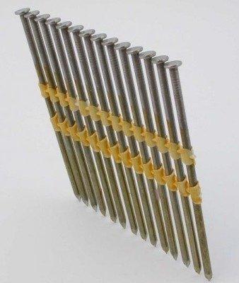 Gwoździe taśmowe łączone plastikiem 21°  3,4/100mm/ryflowane/galwanizowane