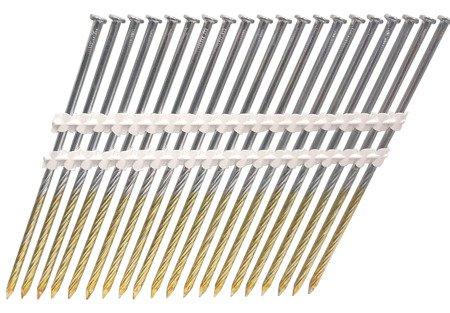 Gwoździe taśmowe łączone plastikiem 21°  3,4/130mm/ryflowane/czarne